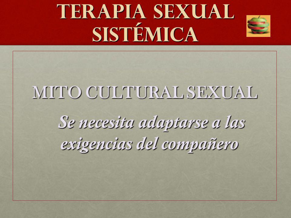 TERAPIA SEXUAL SISTéMICA