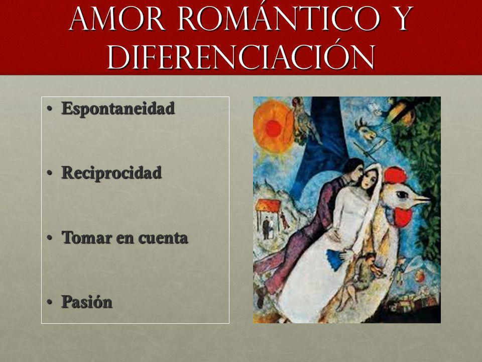 Amor romántico Y DIFERENCIACIÓN