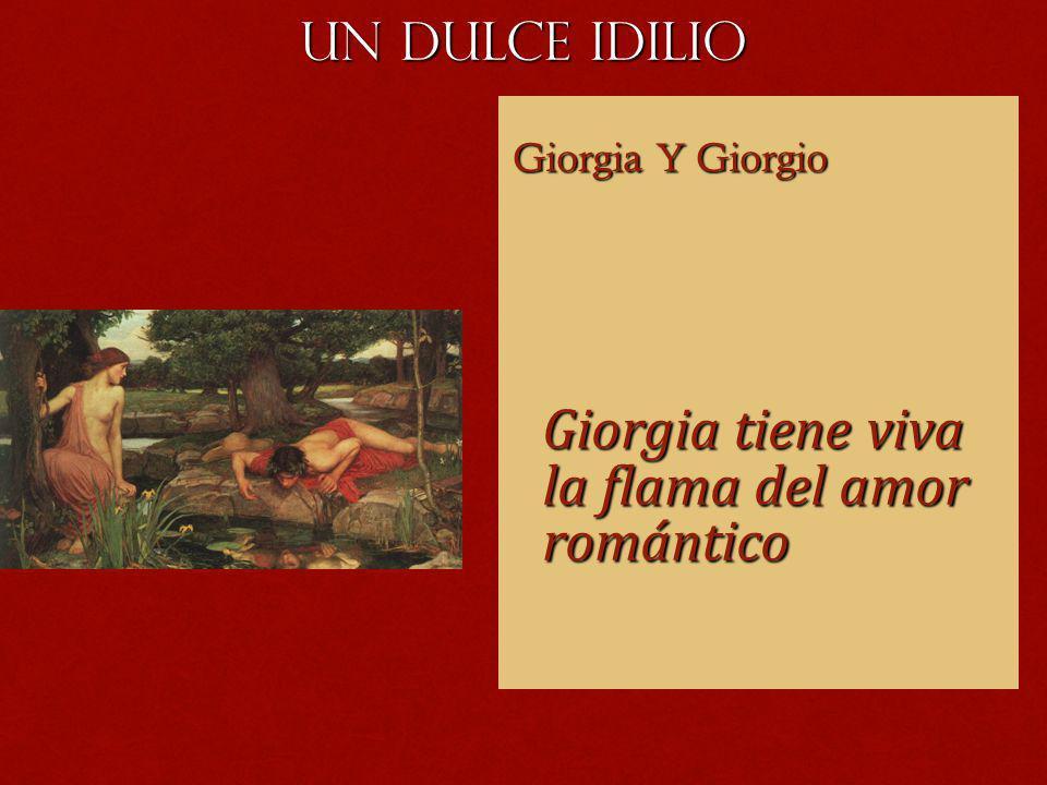 Giorgia tiene viva la flama del amor romántico