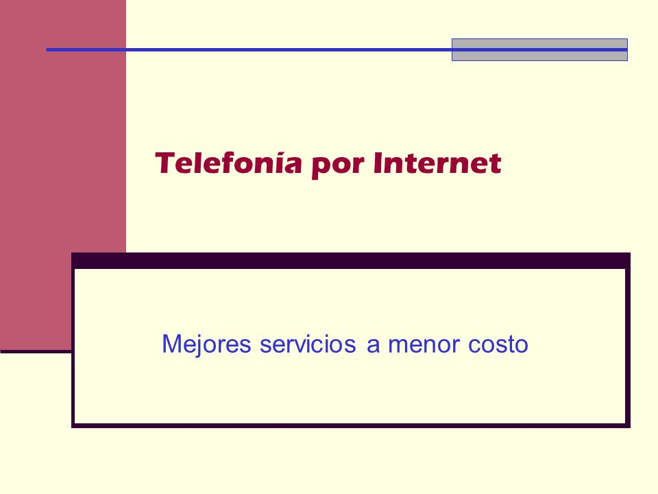 Telefonía por Internet