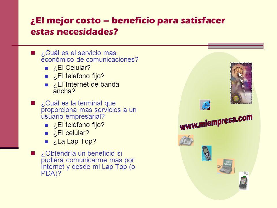 ¿El mejor costo – beneficio para satisfacer estas necesidades