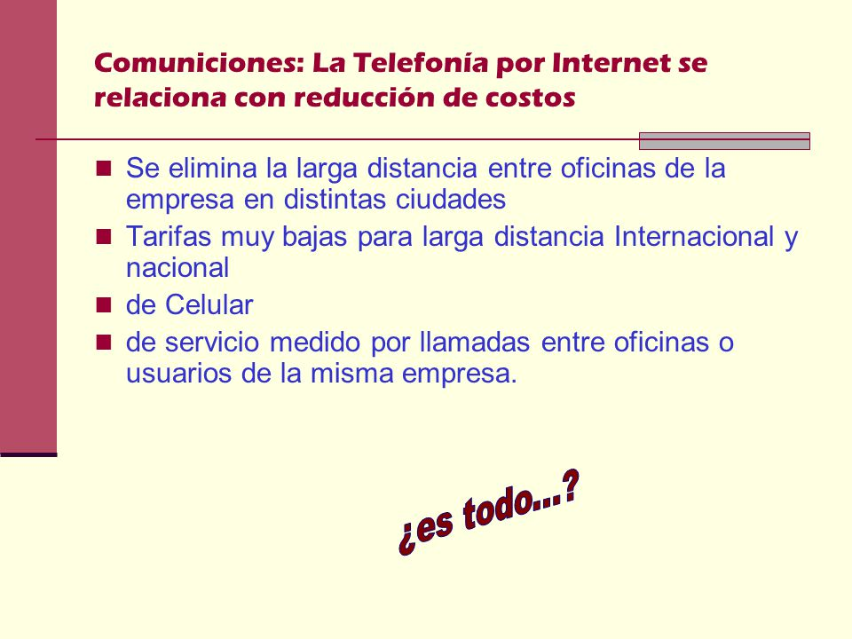 Comuniciones: La Telefonía por Internet se relaciona con reducción de costos