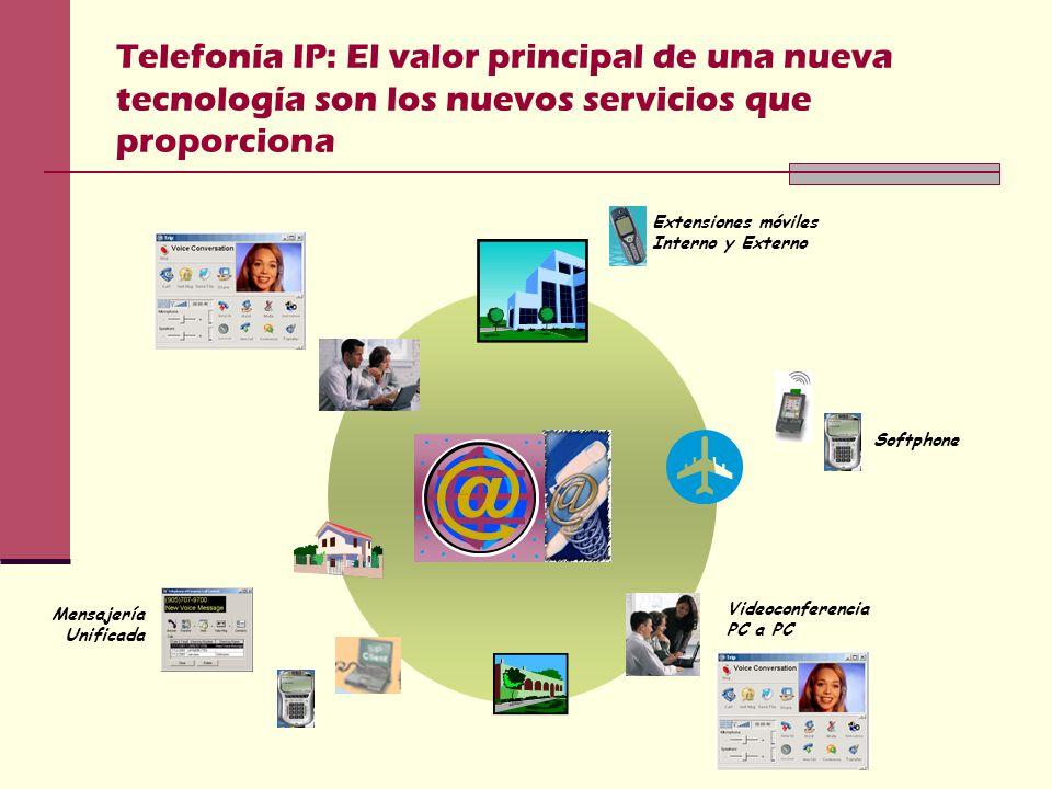 Telefonía IP: El valor principal de una nueva tecnología son los nuevos servicios que proporciona