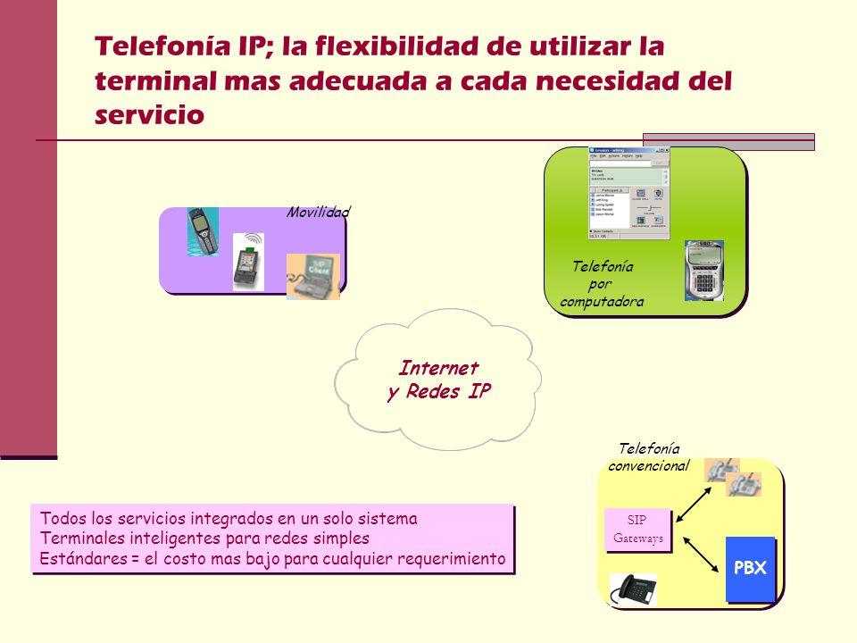 Telefonía IP; la flexibilidad de utilizar la terminal mas adecuada a cada necesidad del servicio