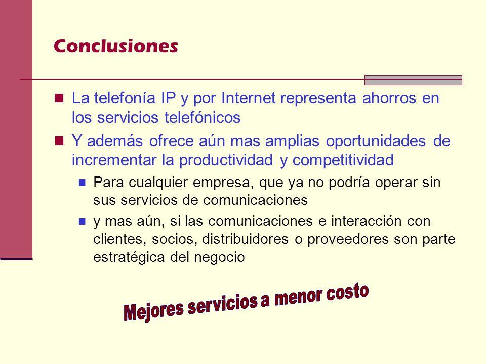 Mejores servicios a menor costo