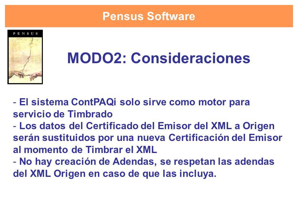 MODO2: Consideraciones