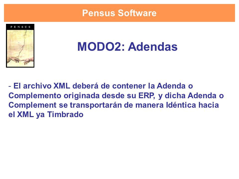 MODO2: Adendas Pensus Software