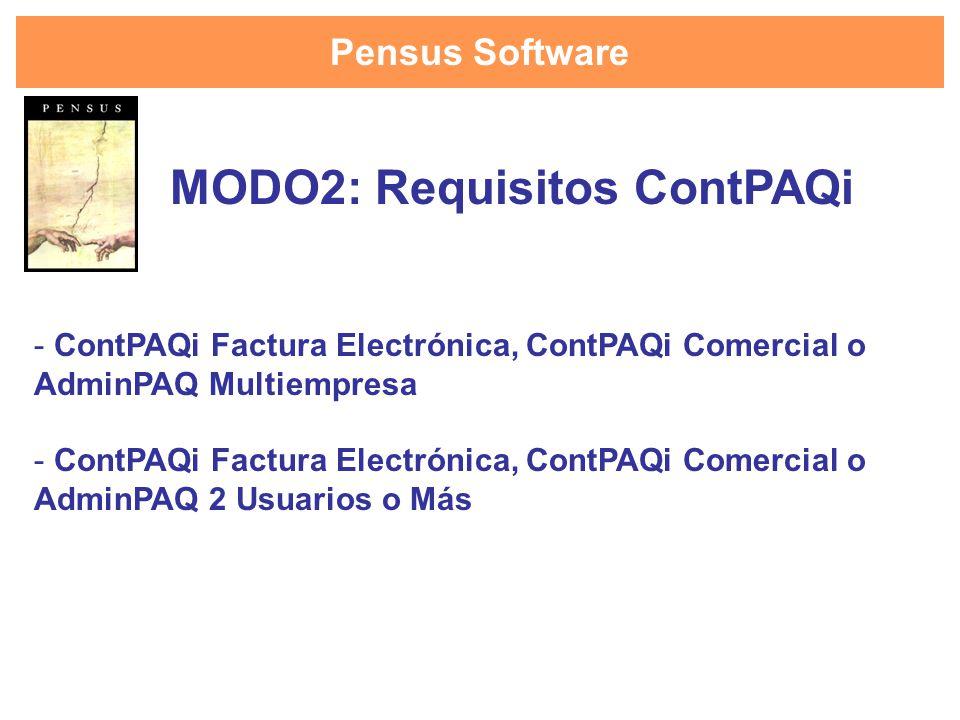 MODO2: Requisitos ContPAQi