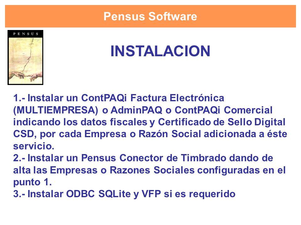 INSTALACION Pensus Software