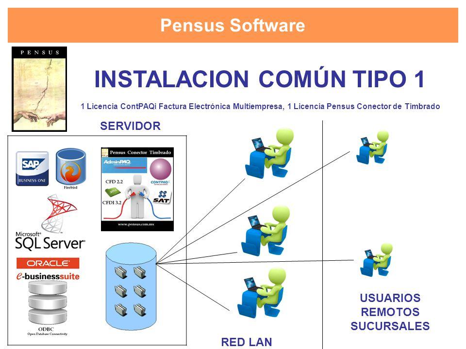 INSTALACION COMÚN TIPO 1 USUARIOS REMOTOS SUCURSALES