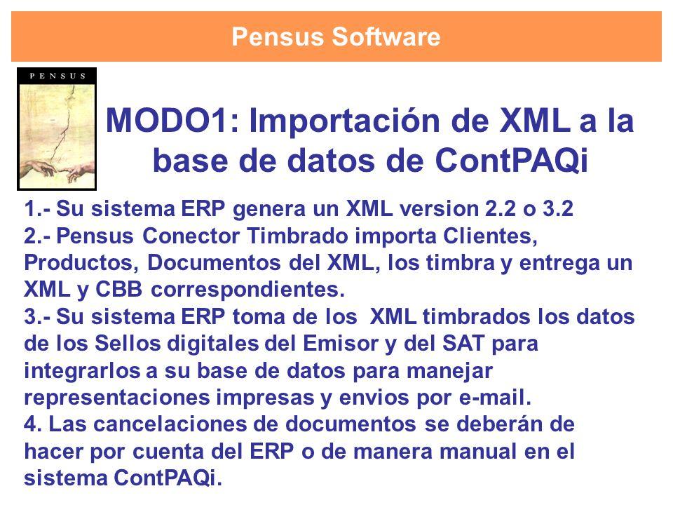 MODO1: Importación de XML a la base de datos de ContPAQi