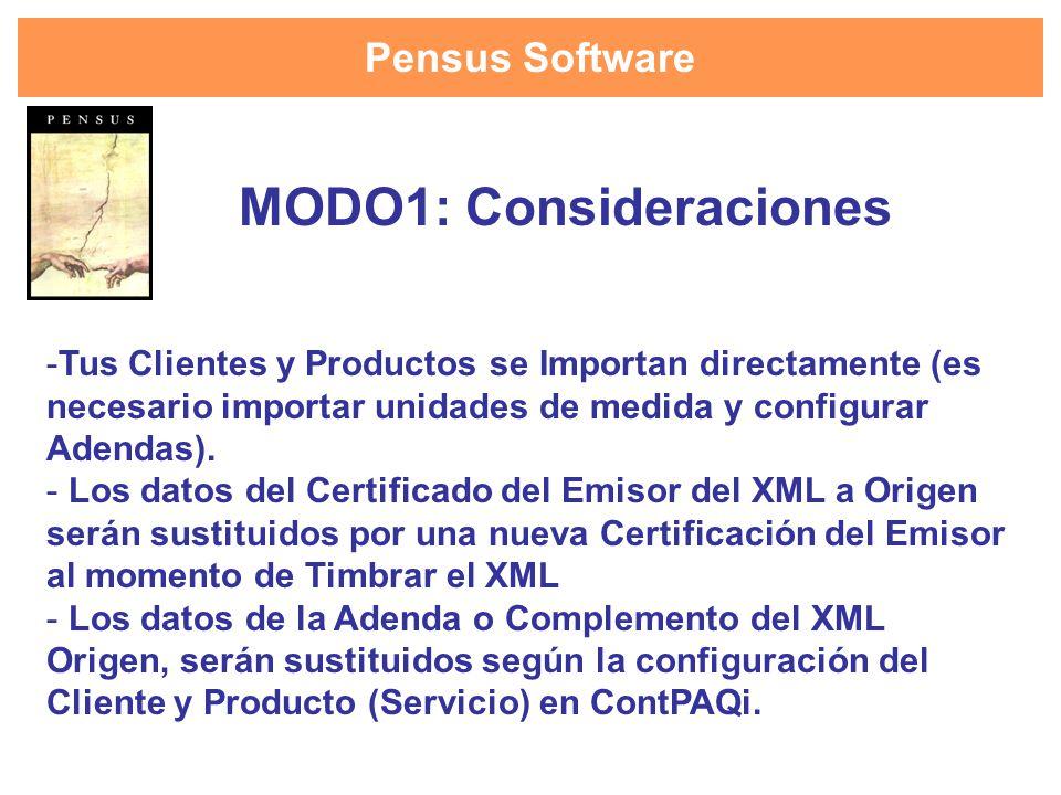 MODO1: Consideraciones