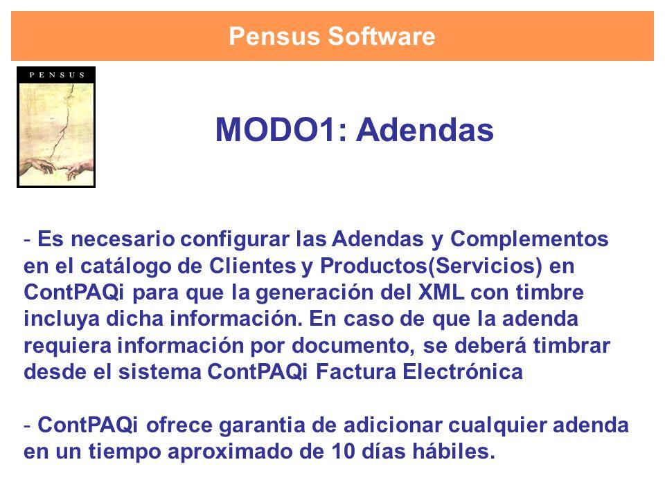 MODO1: Adendas Pensus Software