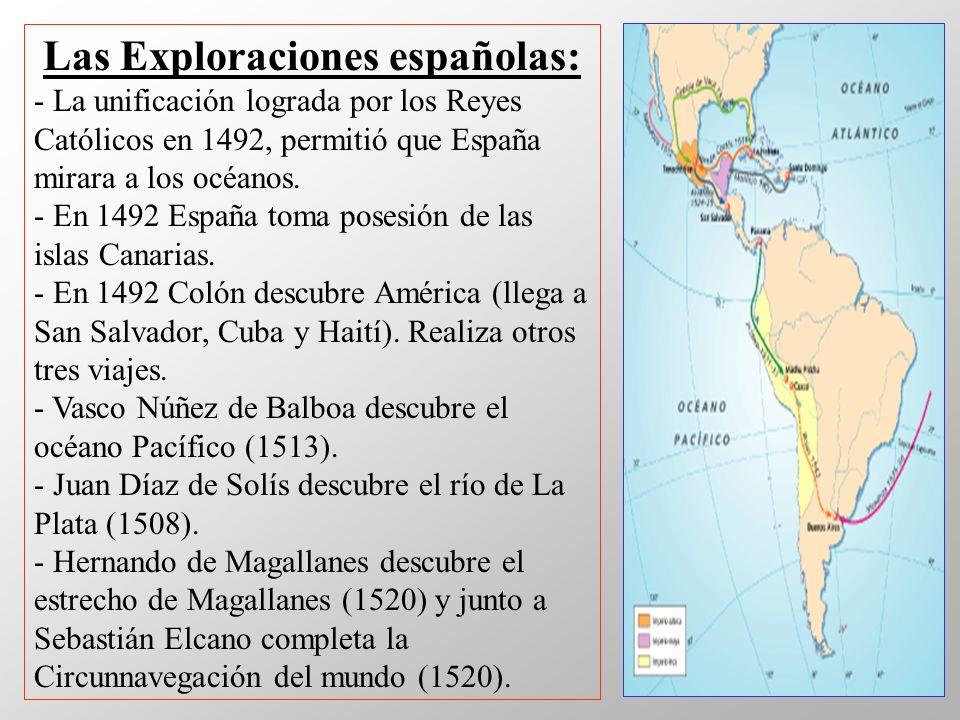 Las Exploraciones españolas: