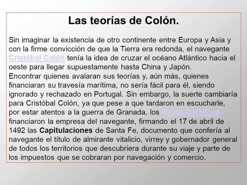Las teorías de Colón.