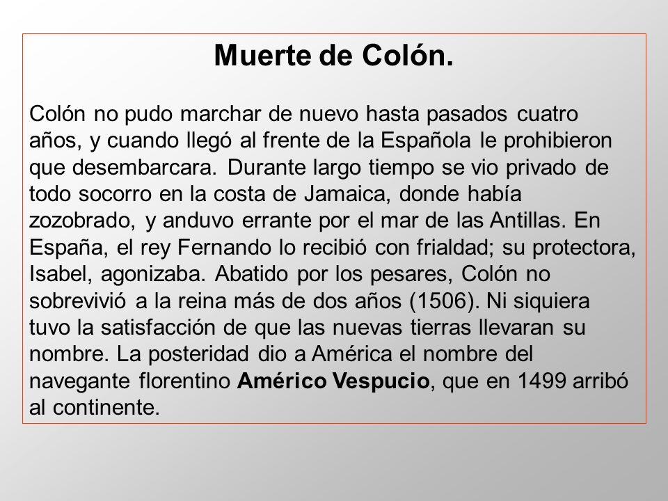Muerte de Colón.