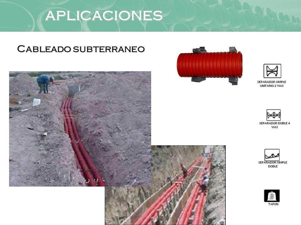 aplicaciones Cableado subterraneo