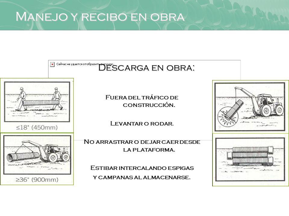 Manejo y recibo en obra Descarga en obra: