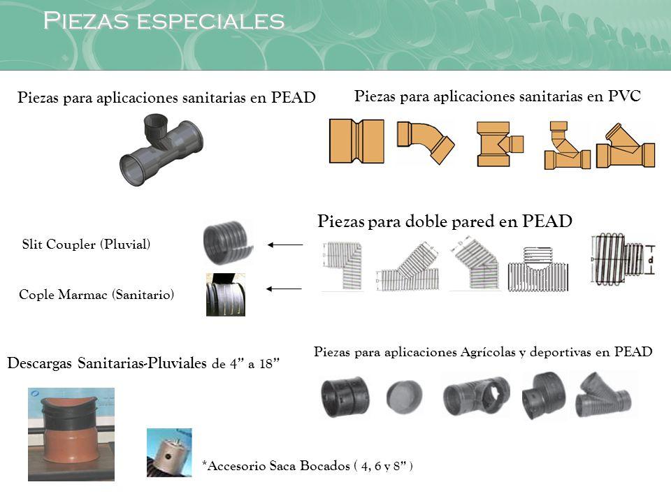 Piezas especiales Piezas para doble pared en PEAD