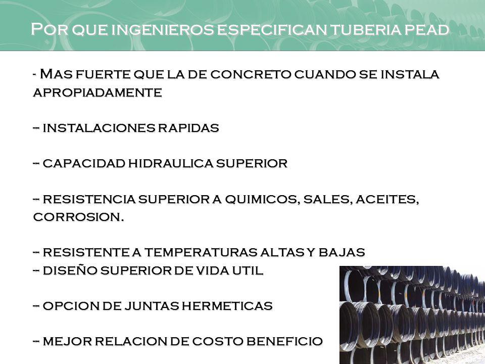 Por que ingenieros especifican tuberia pead