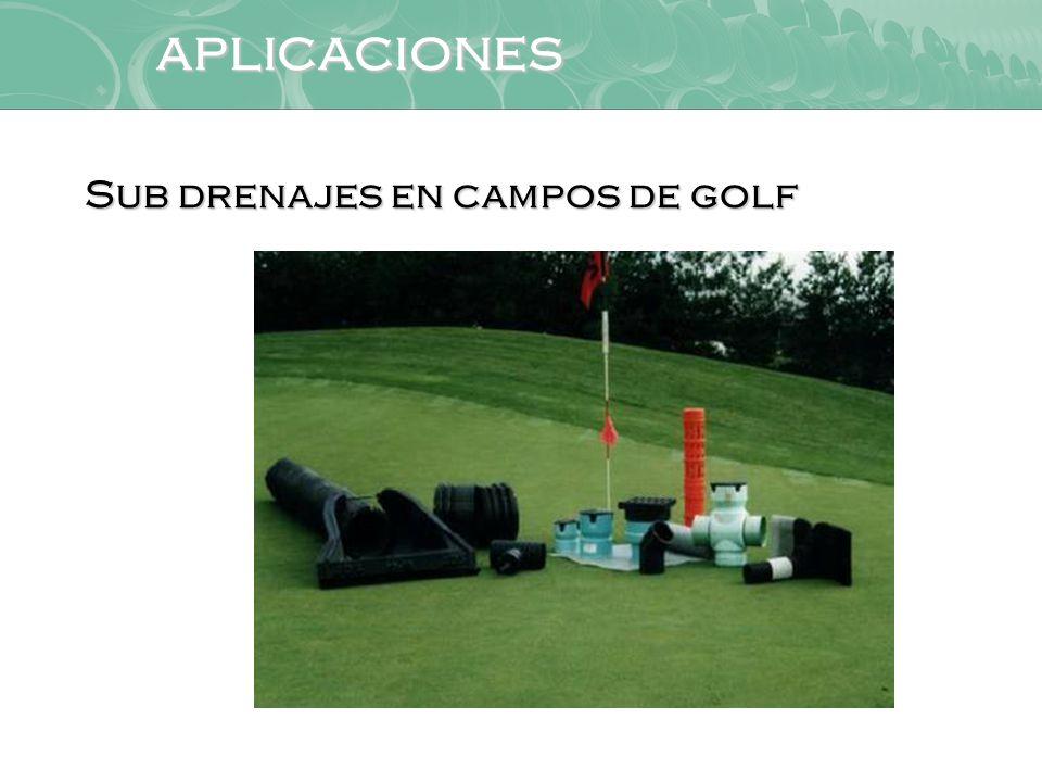 aplicaciones Sub drenajes en campos de golf