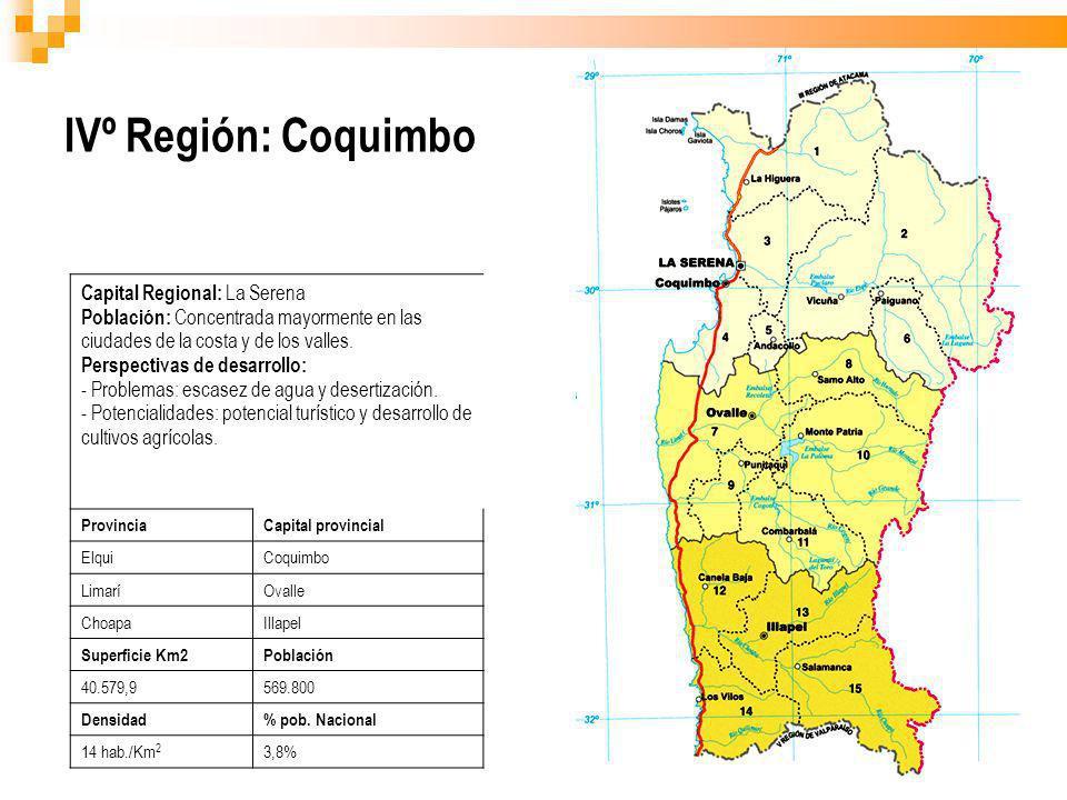 IVº Región: Coquimbo Capital Regional: La Serena