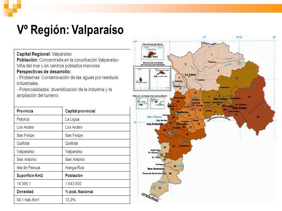 Vº Región: Valparaíso Capital Regional: Valparaíso