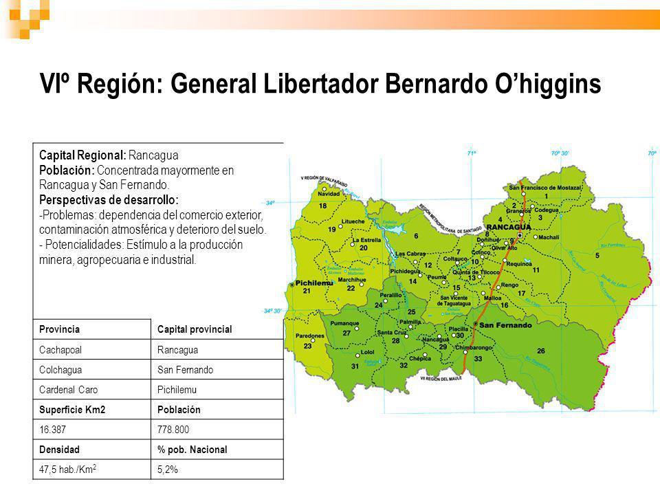 VIº Región: General Libertador Bernardo O'higgins