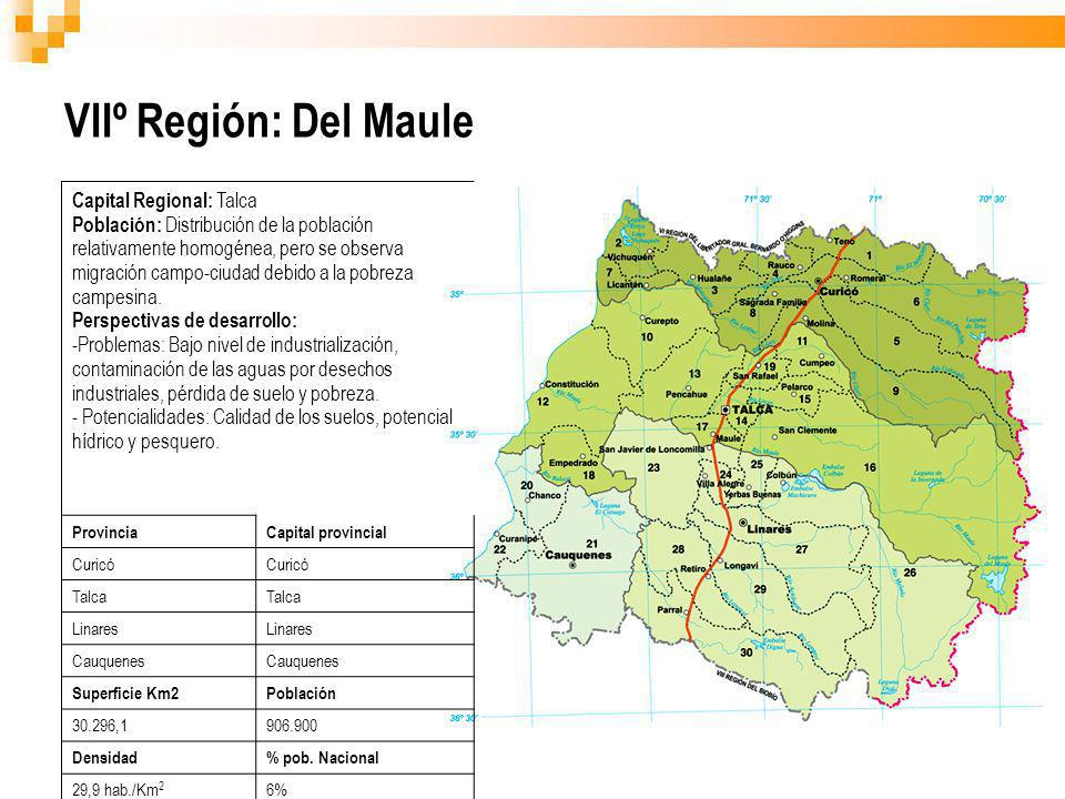 VIIº Región: Del Maule Capital Regional: Talca