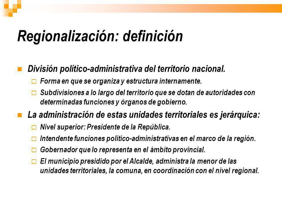 Regionalización: definición