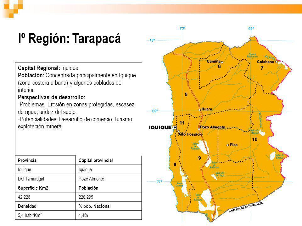 Iº Región: Tarapacá Capital Regional: Iquique