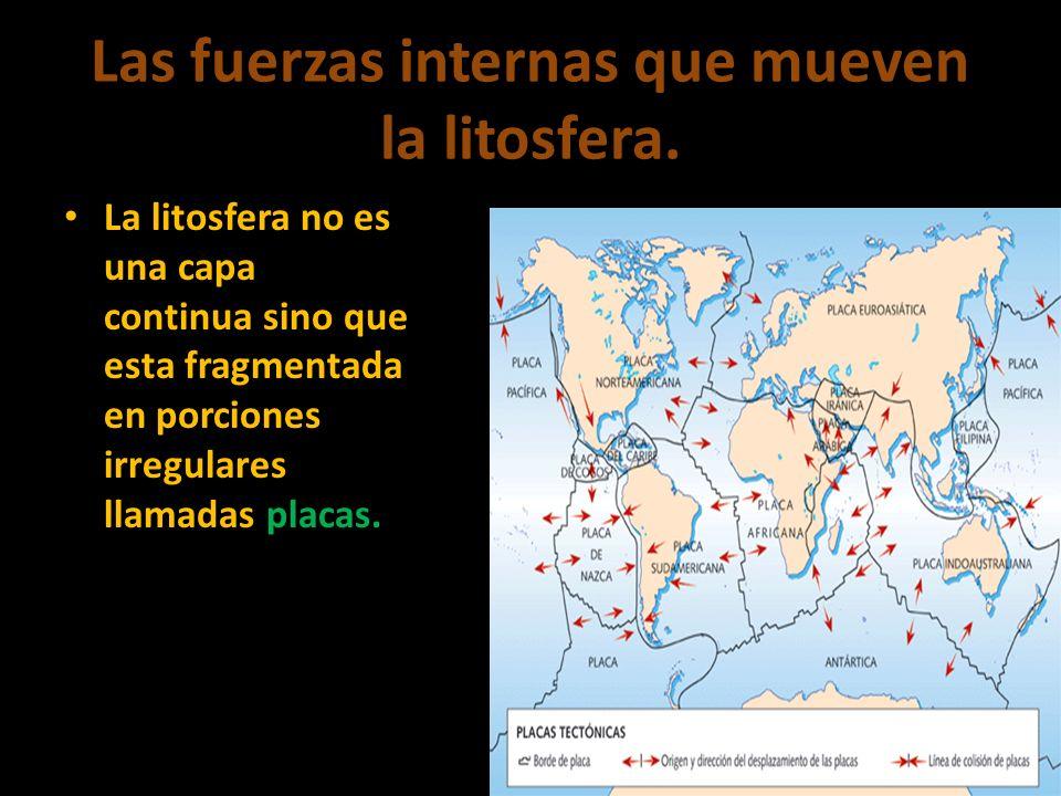 Las fuerzas internas que mueven la litosfera.