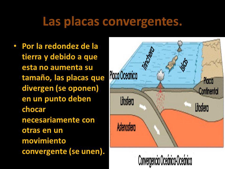 Las placas convergentes.