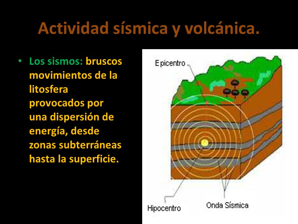 Actividad sísmica y volcánica.