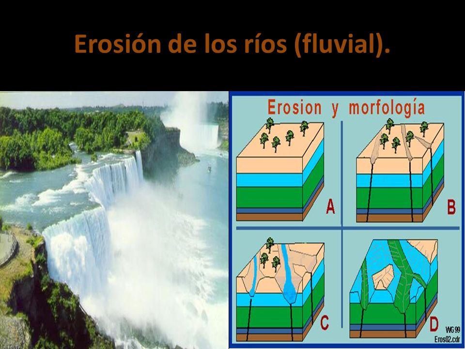 Erosión de los ríos (fluvial).