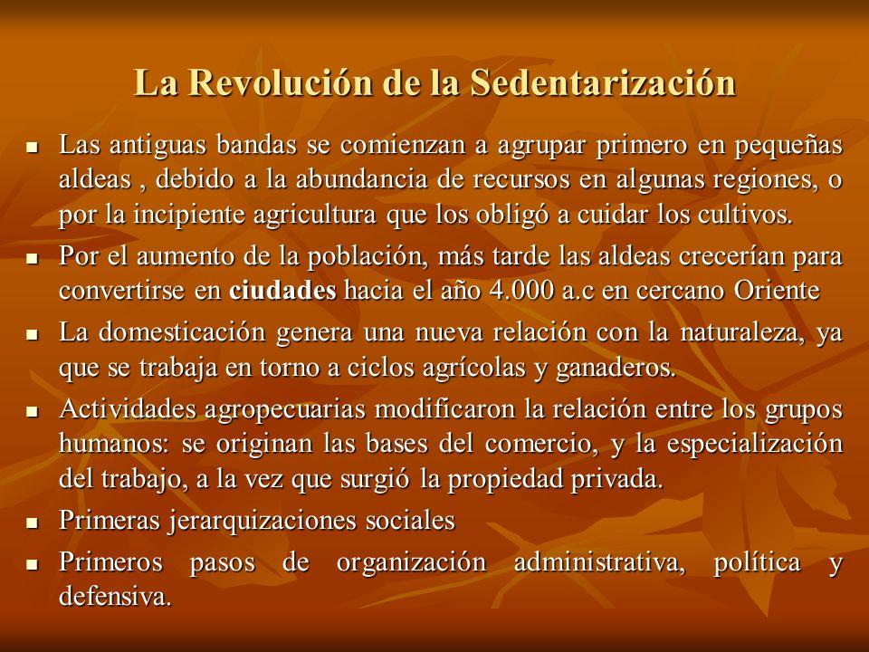 La Revolución de la Sedentarización