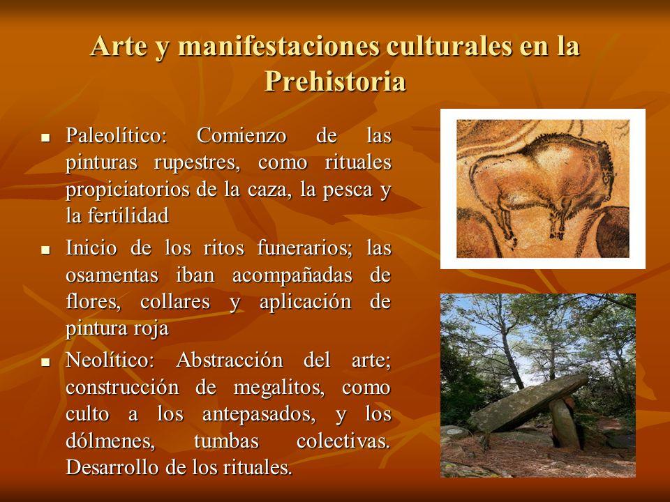 Arte y manifestaciones culturales en la Prehistoria