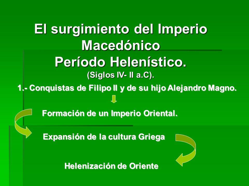 El surgimiento del Imperio Macedónico Período Helenístico.