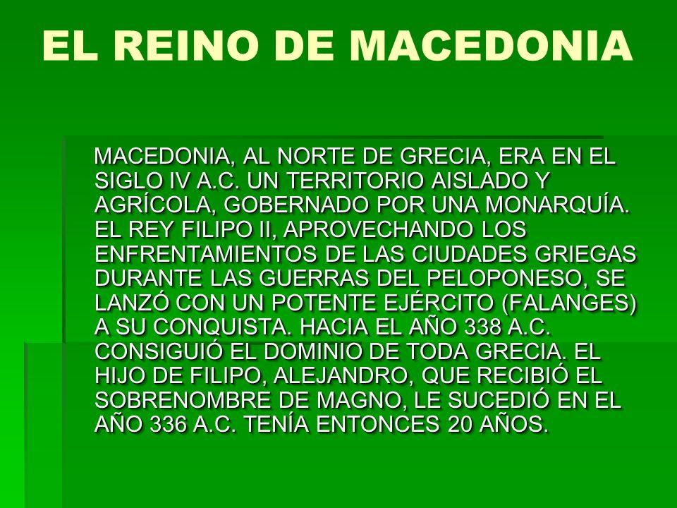 EL REINO DE MACEDONIA