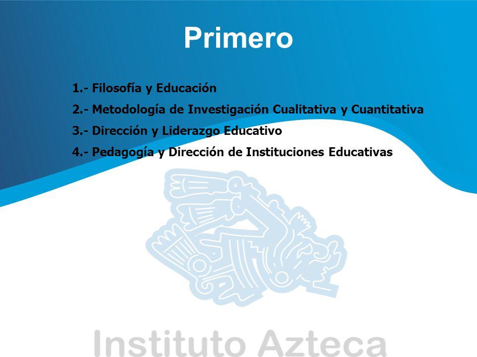 Primero 1.- Filosofía y Educación