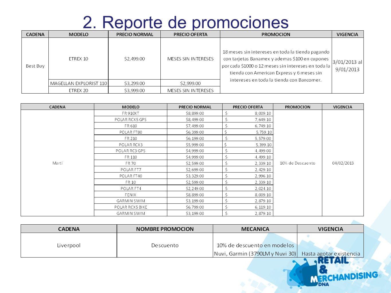 2. Reporte de promociones