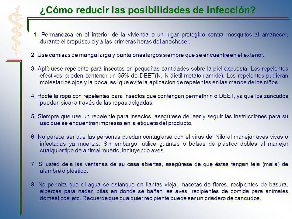 ¿Cómo reducir las posibilidades de infección