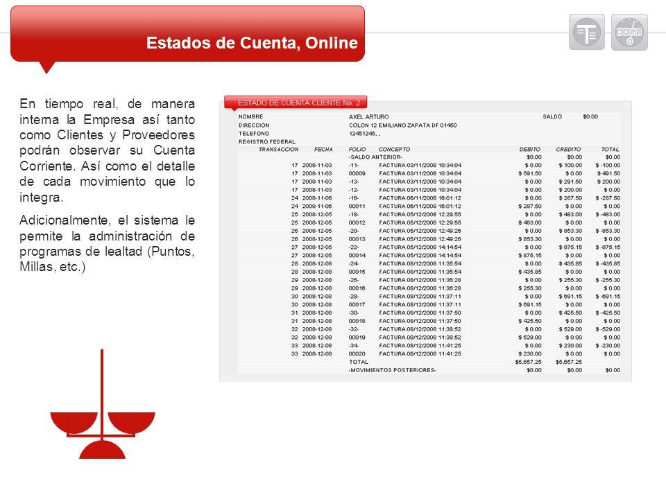 Estados de Cuenta, Online
