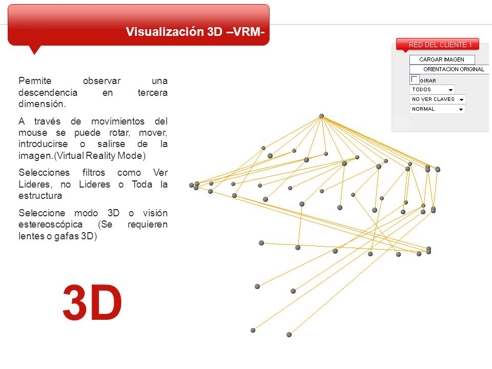 3D Visualización 3D –VRM-