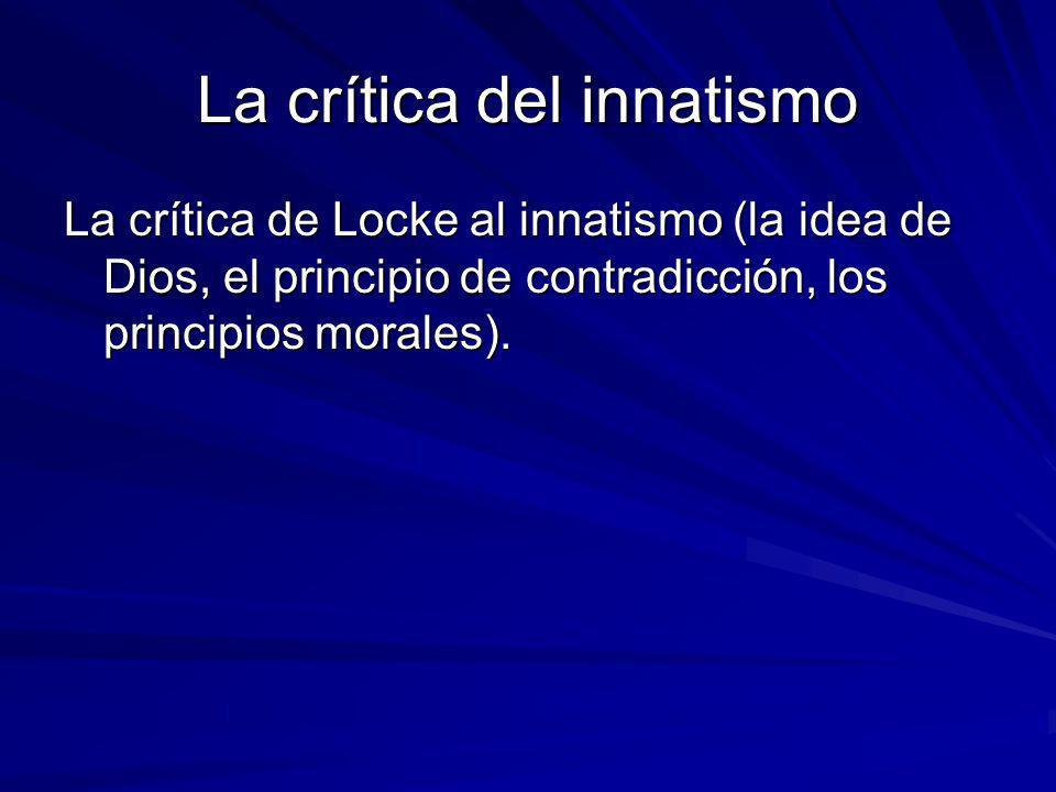 La crítica del innatismo