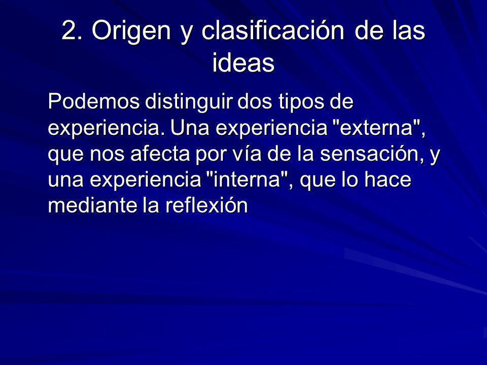 2. Origen y clasificación de las ideas