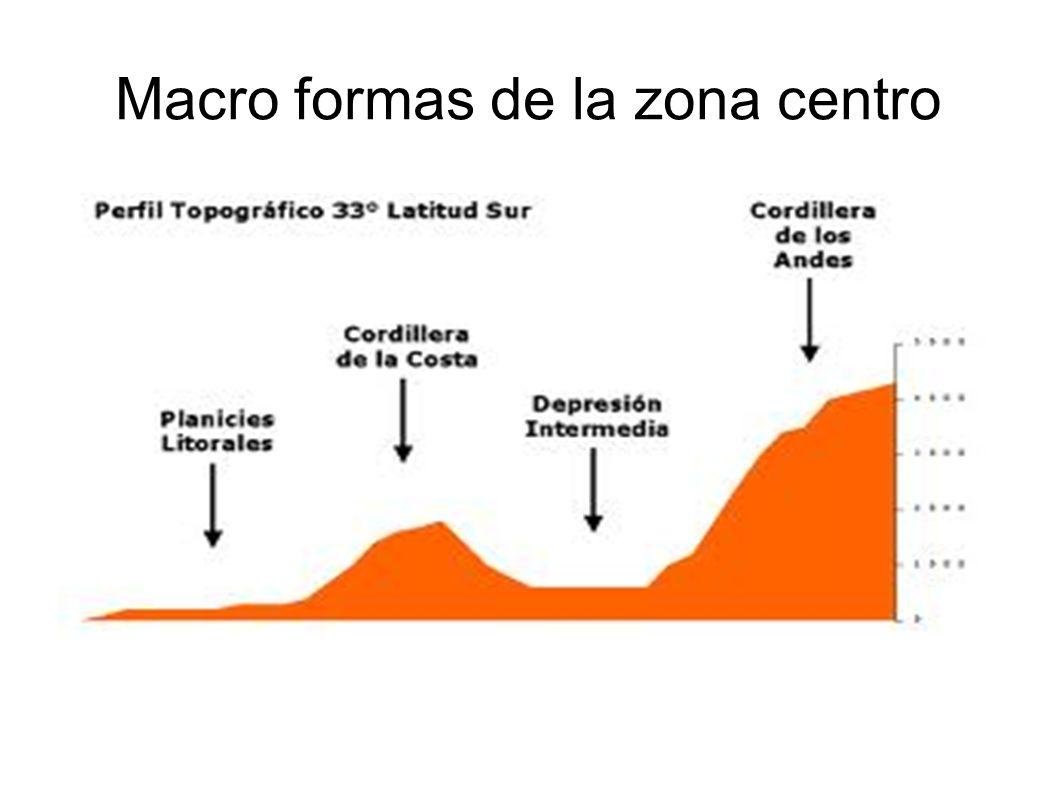 Macro formas de la zona centro
