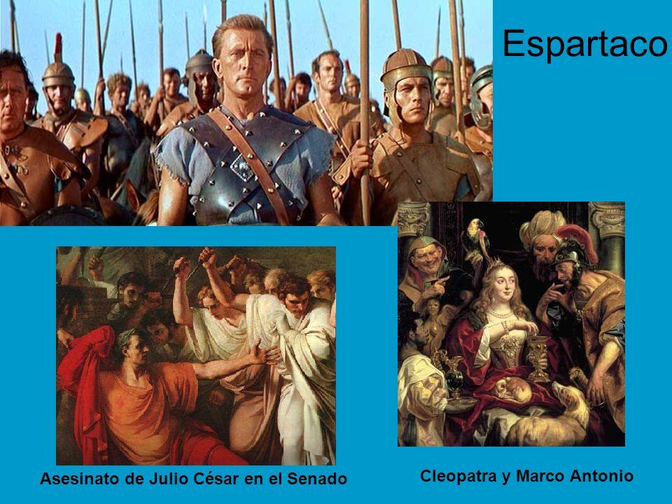 Espartaco Cleopatra y Marco Antonio