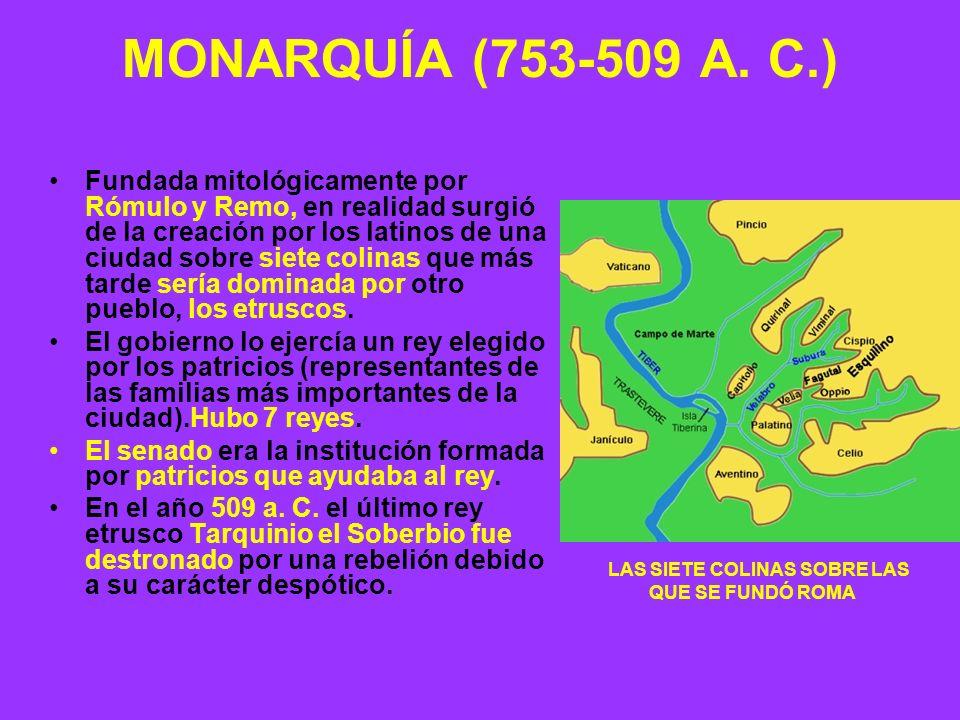 MONARQUÍA (753-509 A. C.)