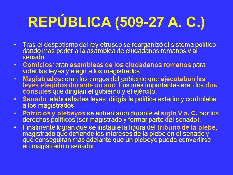 REPÚBLICA (509-27 A. C.)